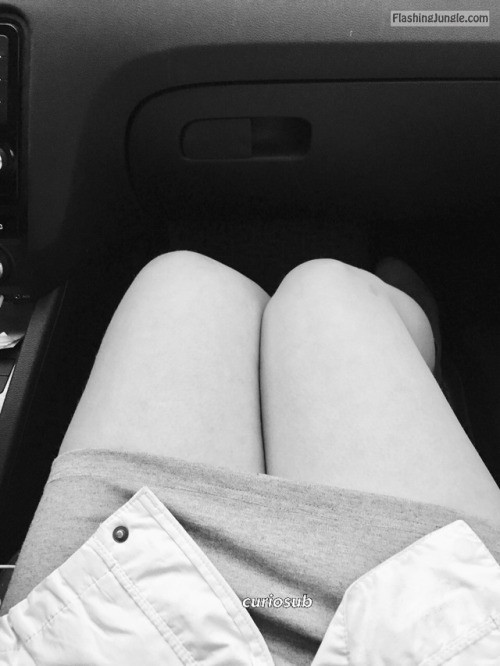 curiosub: Yesterday the hubby and I went for a little roadtrip,... no panties