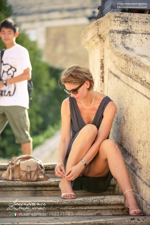 omgchoppedgoateedinosaurfan:Jouissance in Rome 09 by... public flashing