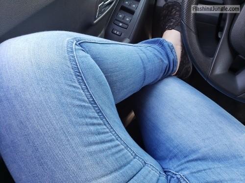 warmb3d: I got horny on my way back home, so I teased myself... no panties