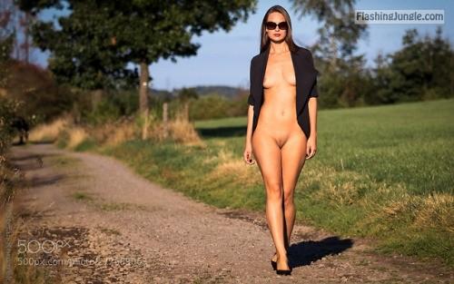 exisexyoutfit: propernudes: rural catwalk by stefanekomarek,... public flashing