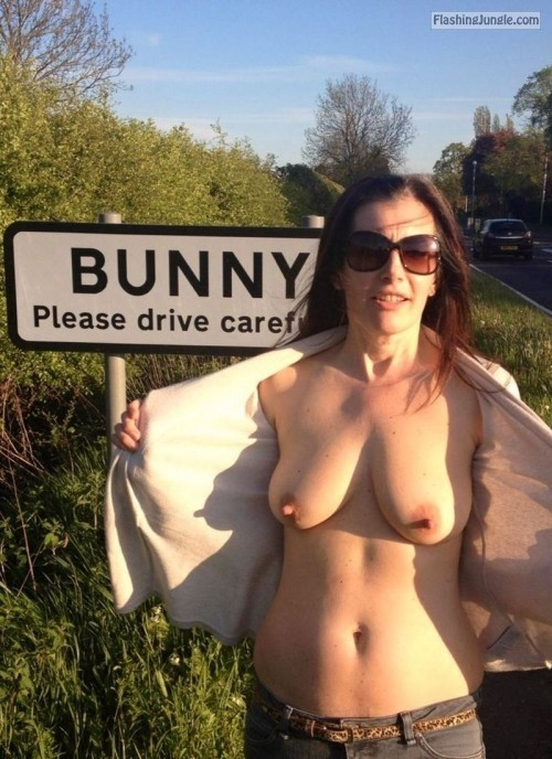embarrassedattheirnudity:For more hot amateur women caught in... public nudity