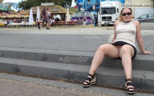mastersbuttcat: #buttcat relaxing during a festival. no panties