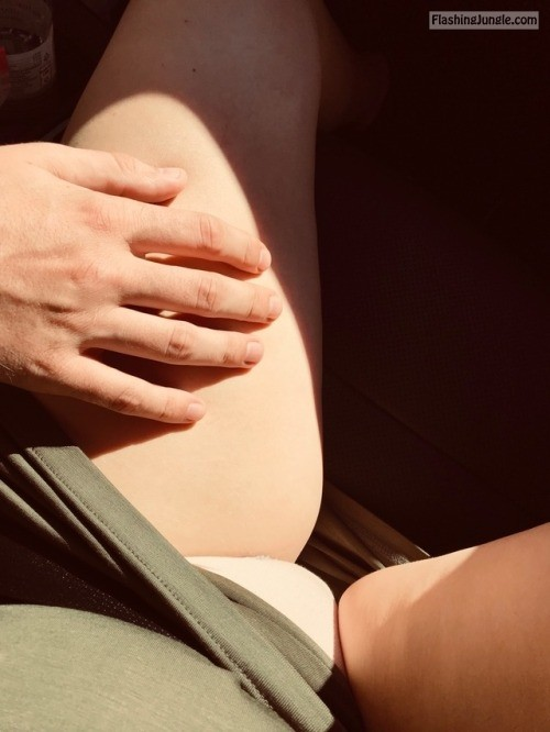 sthlmcouple: Hubby helps me touch myself on the road   he's... no panties