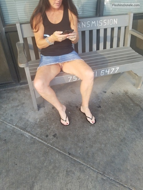 MILF spreads legs & flashes her trimmed cunt pussy flash public flashing no panties milf pics