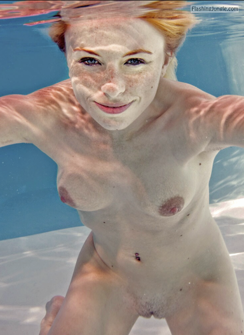 Naked ginger underwater photo public flashing