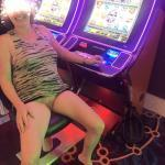 Pantyless at casino – wife feels lucky tonight