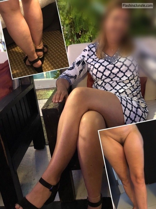 jackandjillat40: For example the anklet accentuates her long legs especially with a short dress. no panties