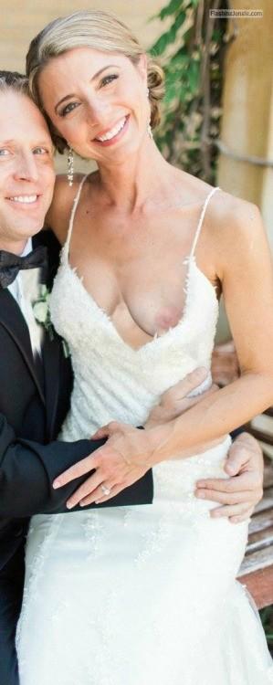 Wedding nipple slip