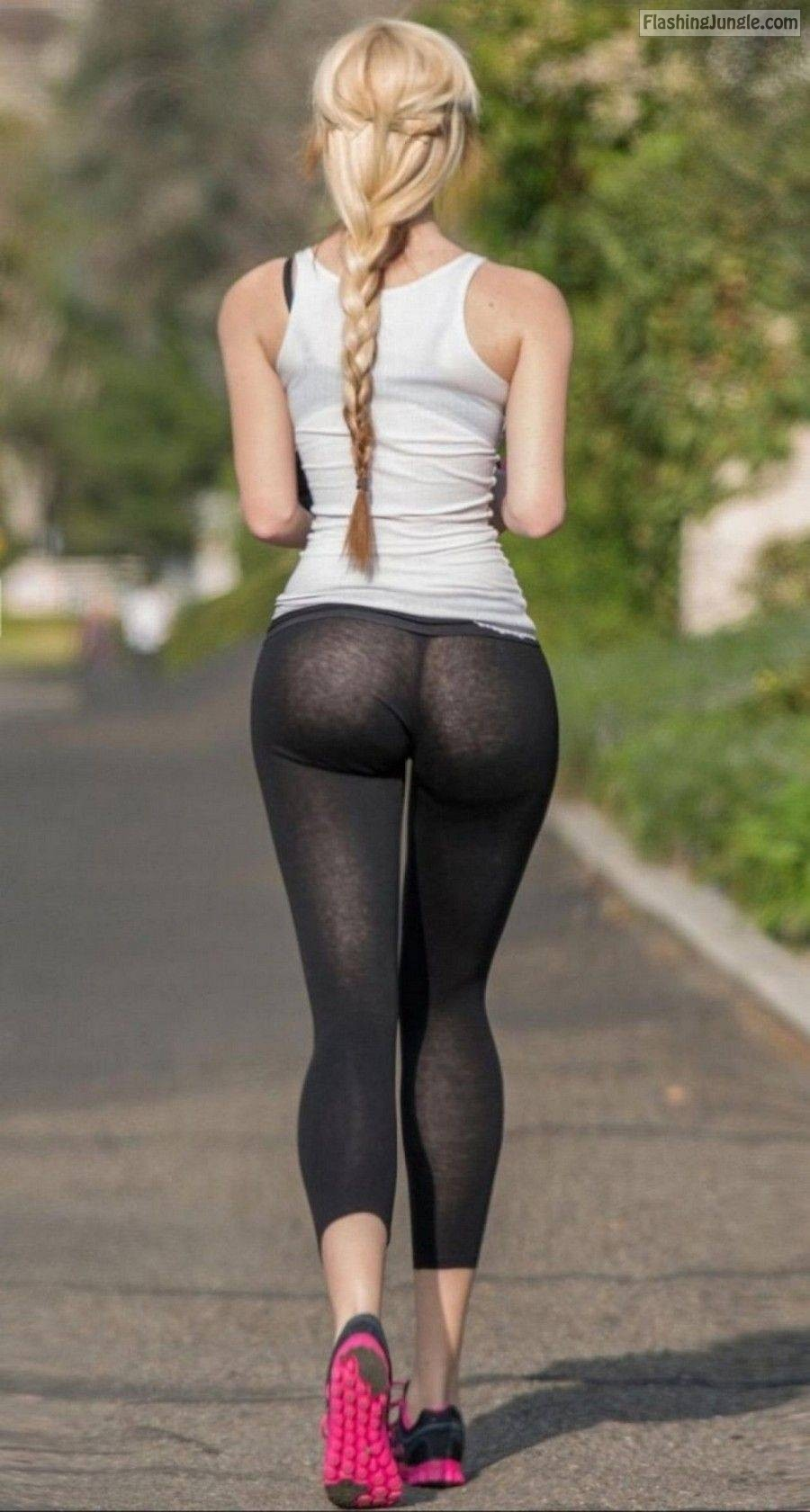 pussy in see through pants
