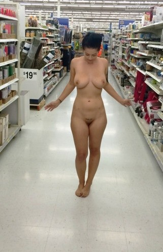 Naked black women in stores