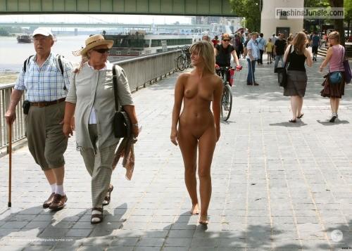 Voyeur women walking in the street