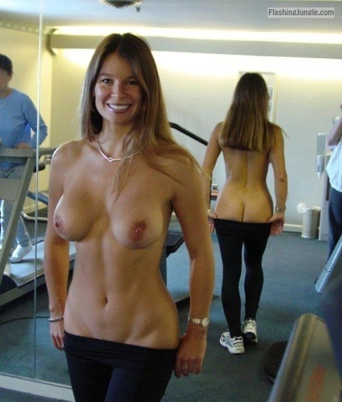 Can Girls flashing boobs at the gym absolutely