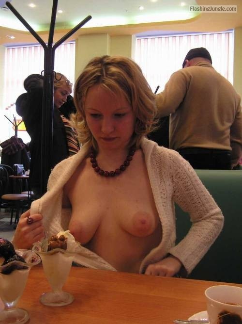 Restaurant Exposure Which Dessert Would You Choose Boobs -6469