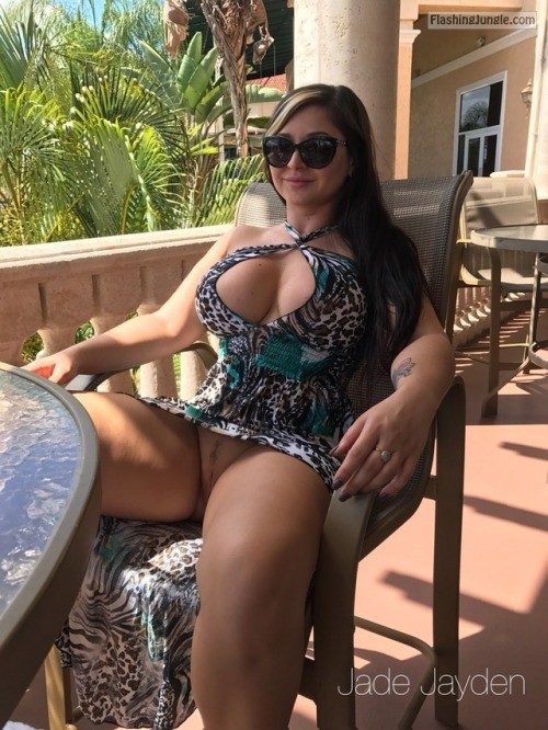 Sexy senior lady with small tits rubs her old pussy 8