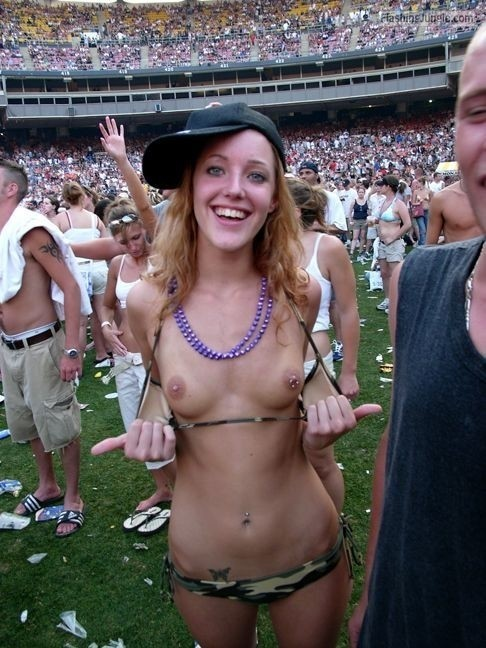 Flashing Big Tits Public