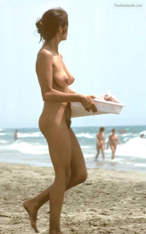Slim Wife Big Natural Tits And Hairy Cunt Nude Beach Pics -7583