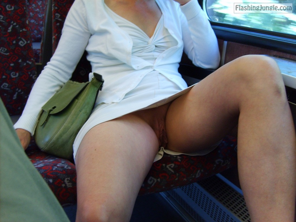 Cock Hungry Upskirt Pussy On The Bus No Panties Pics -6967