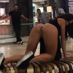 nudeandnaughtyflashing:Katrina Jade putting on a nice little…