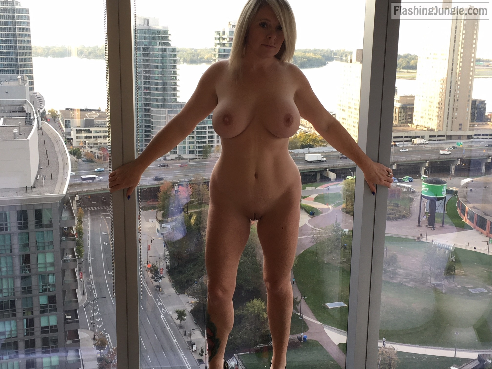 window flashing wives Naked