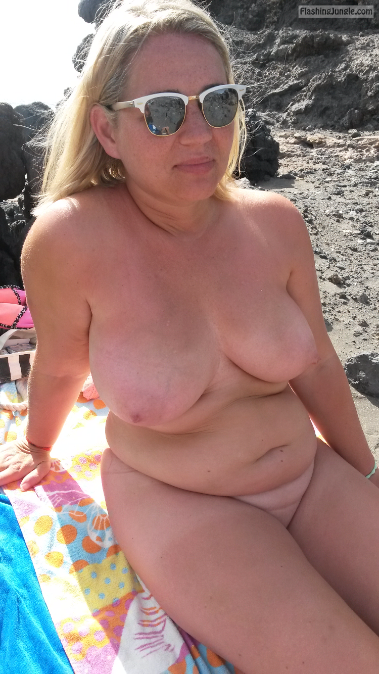 Blonde nudist beach nude