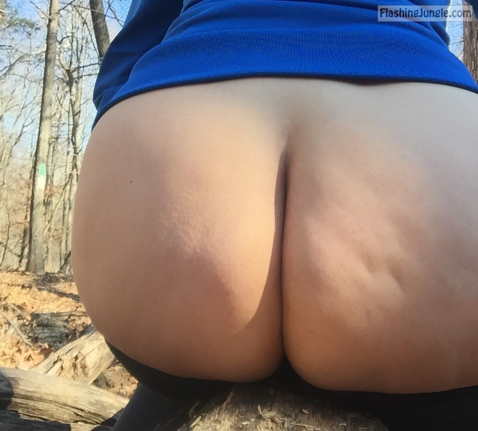 Busty MILF naked in the forest but there is no one to fuck pussy flash public flashing no panties milf pics boobs flash ass flash