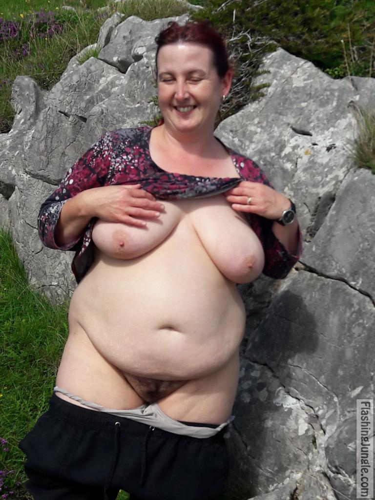 Cock Eager Chubby Woman Flashing In Nature Boobs Flash -3493