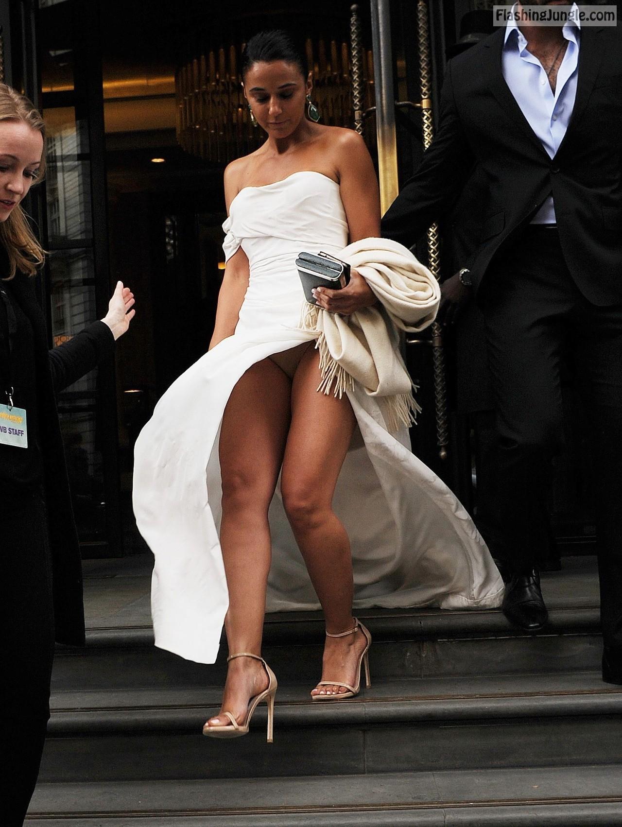 Pantyhose Wedding Dress Upskirts
