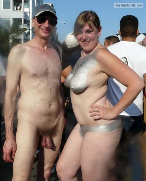 Naked Couple In Public, Folsom Street Fair, Exhibitionist -7077