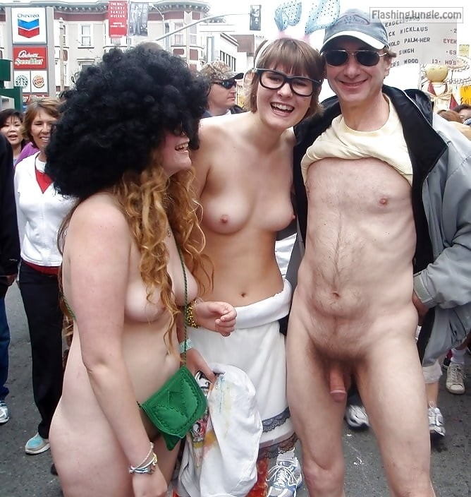 Public girls topless Girl walks
