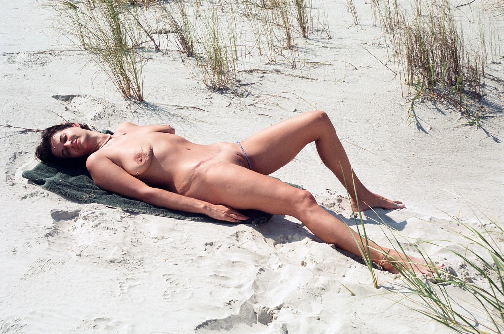 naked on beach